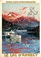 Poster by F. Hugo  d'Alesi - Le Lac d'Annecy, Hugo