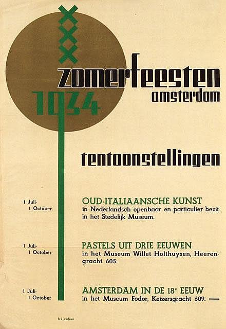 Poster by Fré Cohen - Zomerfeesten Amsterdam Tentoonstellingen