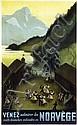 Poster by Harald Damsleth - Venez admirer les Norvège, Harald Damsleth, Click for value