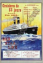 Poster by Louis Royon - Red Star Line, Louis Royon, Click for value