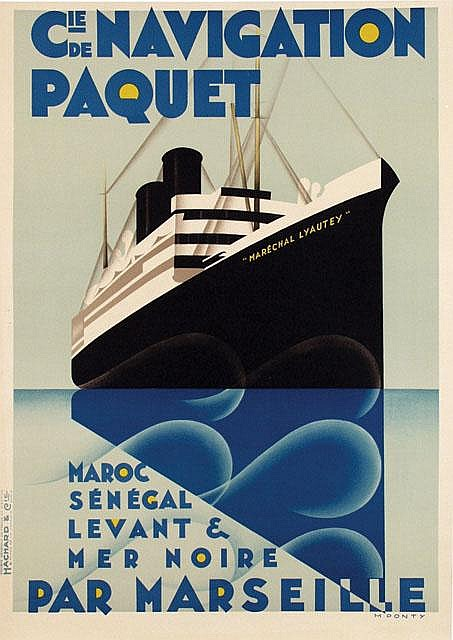 Poster by Max Ponty - Cie de Navigation Paquet