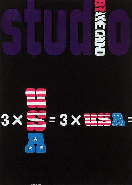 Poster by Jan Bons - studio Brakegrond 3xUSA
