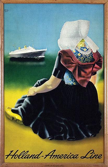 Poster by Alphons  Dullaart - Holland-America Line