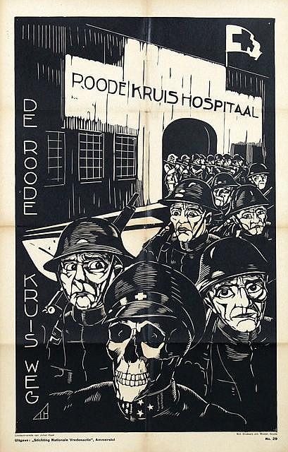 Poster by Johan Haak - Roode Kruis Hospitaal