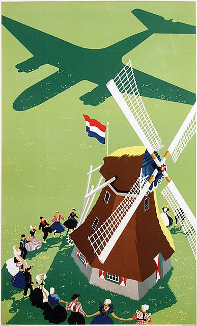 Poster by Paul C. Erkelens - without text (On the liberation of The Netherlands)