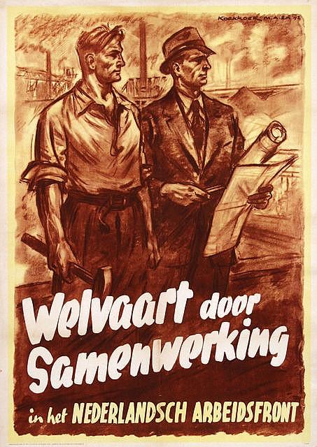 Poster by Cornelis Koekkoek - Welvaart door Samenwerking