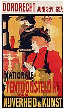 Poster by Johan J. Aarts - Nationale Tentoonstelling van Nijverheid & Kunst Dordrecht