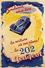 Poster by Jean Jacquelin - Peugeot 202