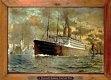 Poster by Fred Pansing - A Mammoth Hamburg-American Liner Kaiserin Auguste Victoria