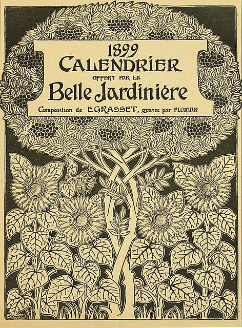 Poster by Maurice P. Verneuil - Calendrier Belle Jardiniere (composition de E. Grasset)