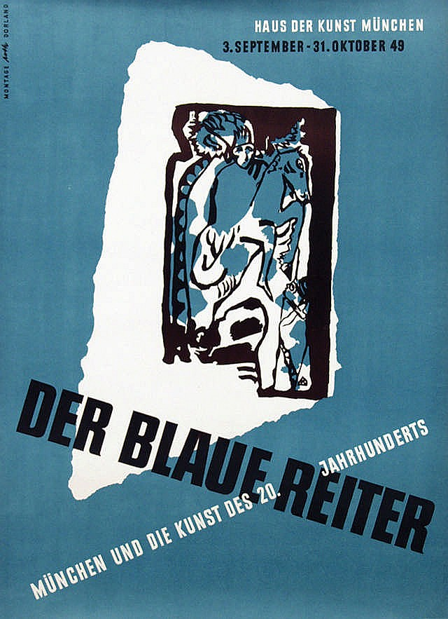 poster by richard roth der blaue reiter haus der kunst m n. Black Bedroom Furniture Sets. Home Design Ideas