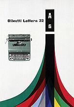 Poster by Giovanni Pintori - Olivetti Lettera 32
