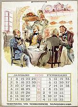 Poster by Emmanuel Louis Joseph Gaillard - Vereeniging van Nederlandsche Wijnhandelaars
