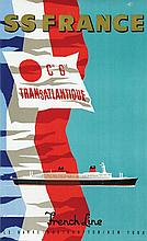 Poster by Jean Jacquelin - French Line SS France