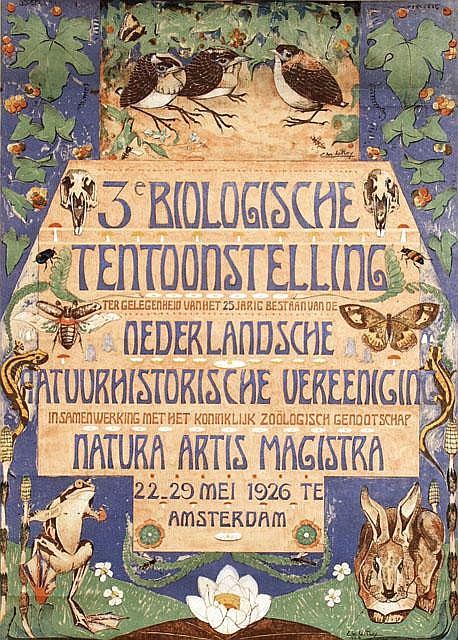 Poster by Chris le Roy - 3e Biologische Tentoonstelling