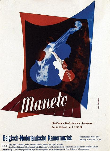 Poster by Otto Treumann - Maneto
