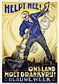 Poster by Albert Hahn jr. - Helpt Mee! Ons land moet drankvrij!, Albert Hahn, Click for value