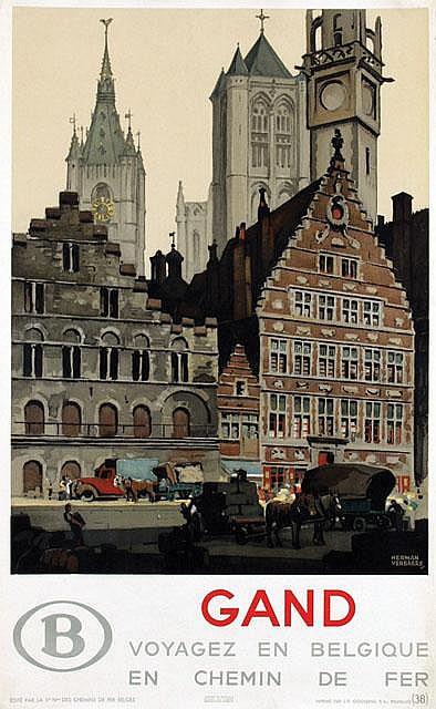 Poster by Herman Verbaere - Gand Belgique