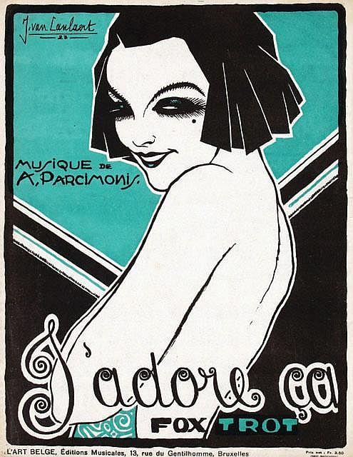 Poster by Jean van Caulaert - J'adore ca foxtrot A. Parcimonis