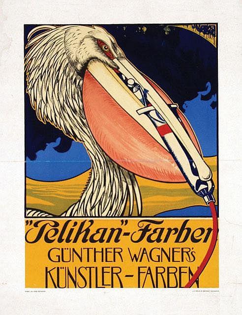 Poster by Julius Diez - Pelikan-Farben