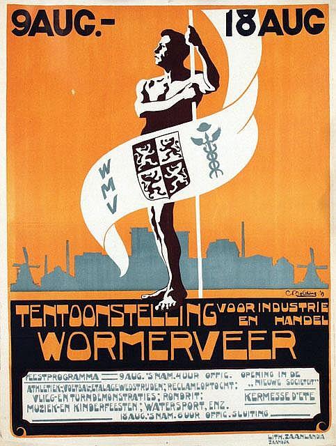 Poster by Cees Bolding - Tentoonstelling voor industrie en handel Wormerveer