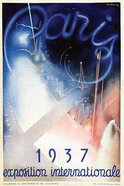 Poster by  Eugene Beaudoin (1898-1983) & Marcel Lods (1891-1978) - Paris exposition internationale