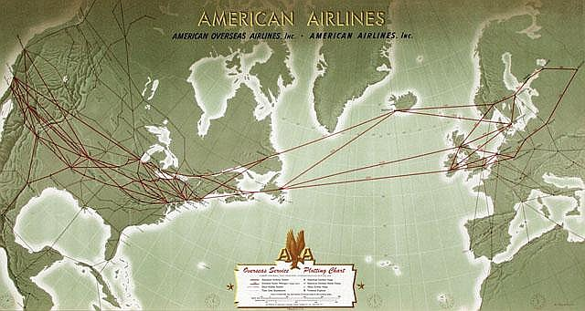 Posters (2) by A.   Petruccelli - American Airlines Plotting Chart