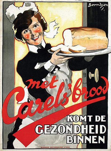Poster by Johan T. Berndsen - met Carels' brood