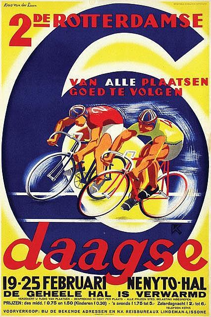 Poster by Kees van der Laan - 2de Rotterdamse 6 daagse