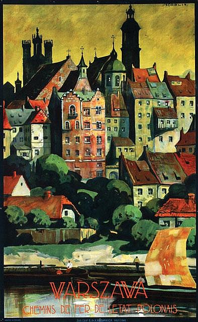 Poster by Stefan Norblin - Warszawa