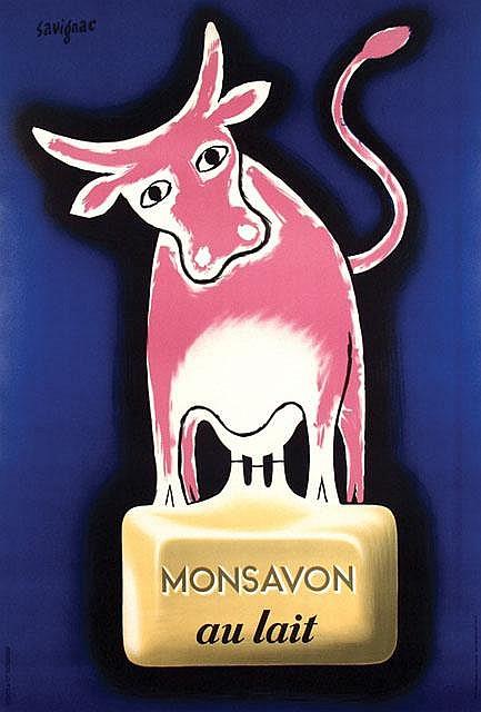 Poster by Raymond Savignac - Monsavon au lait