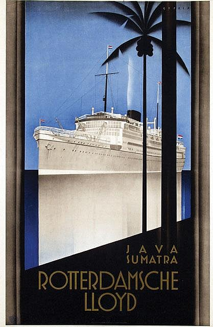 Poster by Johann A.W. von Stein - Rotterdamsche Lloyd Java Sumatra