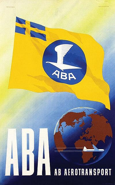 Poster by Olle Svensson - ABA ab aerotransport