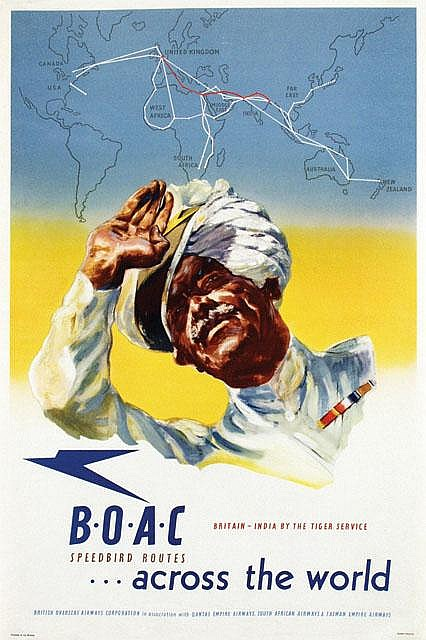 Posters (3) by Harold Foster - BOAC Speedbird Routes
