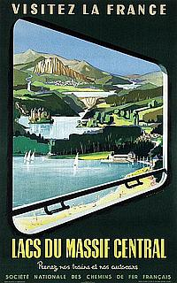 Poster by Jean Jacquelin - Lacs du Massif Central