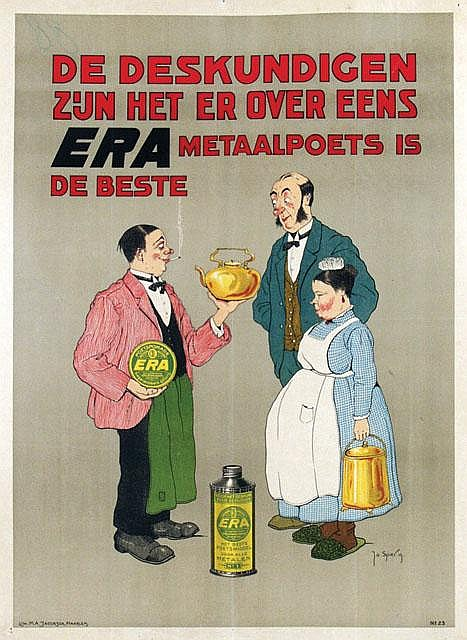 Poster by Jo Spier - Era Metaalpoets is de beste