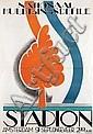 Poster by Samuel Schwarz - Nationaal Huldigingsdefile Stadion Amsterdam, Samuel L. Schwarz, Click for value