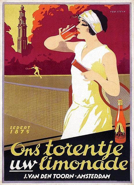 Poster by Johann A.W. von Stein - Ons torentje uw limonade