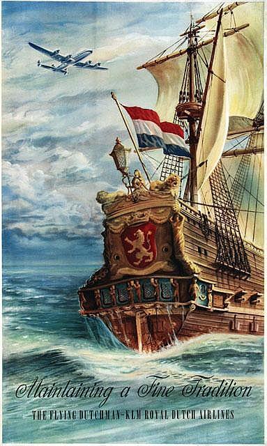 Poster by Joop van Heusden - KLM The Flying Dutchman