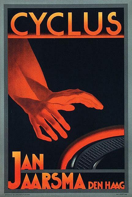 Poster by Adrianus J. van 't Hoff - Cyclus Jan Jaarsma Den Haag