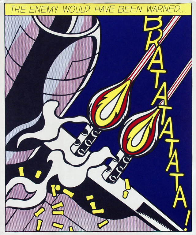 Posters 3 by roy lichtenstein brat as i opened fire pa for Poster roy lichtenstein