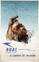 Poster by Harold Forster - B.O.A.C Peedbird routes… a travers le monde