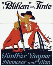 Poster by Siegmund von Suchodolski - Pelikan-Tinte Günther Wagner Hannover und Wien