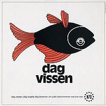 Posters (4) by K. Ooms - dag vissen