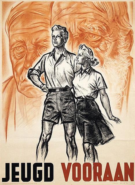 Poster by Cornelis Koekkoek - Jeugd Vooraan