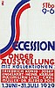 Poster by Robert Haas - Secession Sonder Austellung Wien, Robert Haas, Click for value