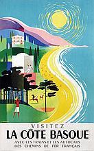 Poster by Jean Jacquelin - Visitez La Côte Basque