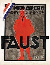 Poster by Falk Bierman - Ned. Opera Faust
