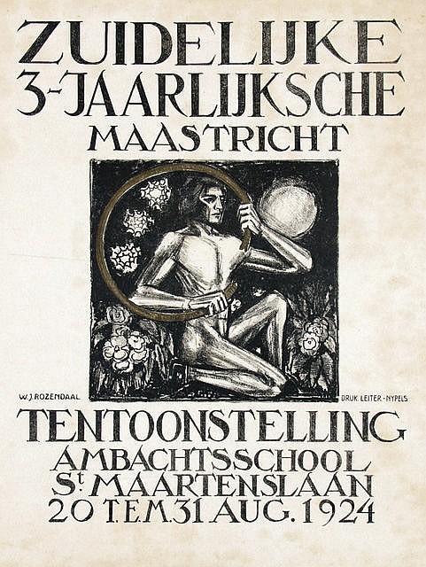 Poster by Willem J. Rozendaal - Tentoonstelling Ambachtsschool Maastricht
