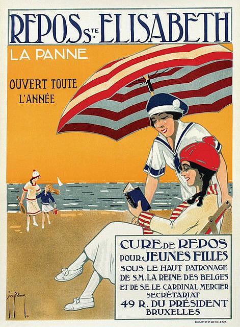 Poster by Francis Delamare - Repos Ste.Elisabeth